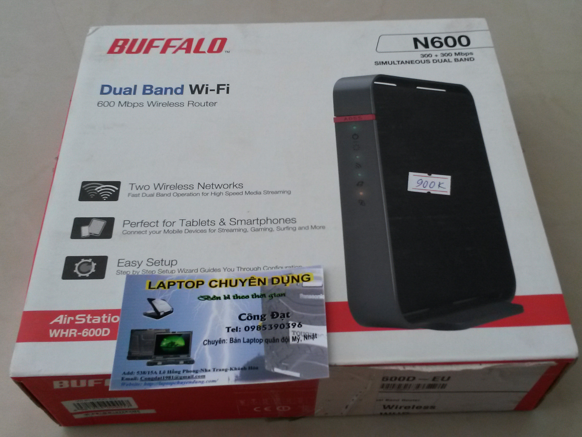 Router wifi buffalo WHR – 600D