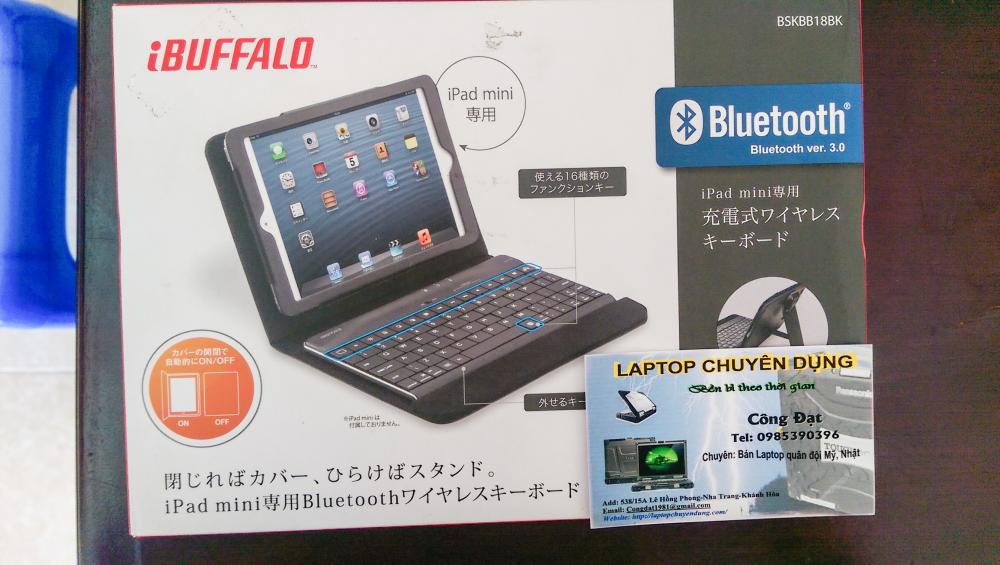 Bàn phím Buffalo bluetooth 3.0 iphone/ipad/ĐT/laptop
